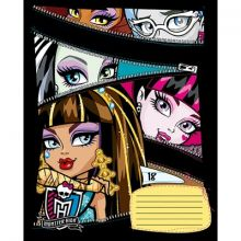 Monster High Тетрадь 18 листов клетка с полями